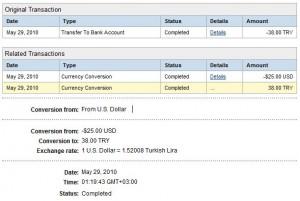 Lockerztan paypal hesabına, oradan da Banka hesabına transfer edilen para :)