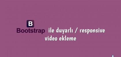 Bootstrap ile duyarlı responsive video ekleme