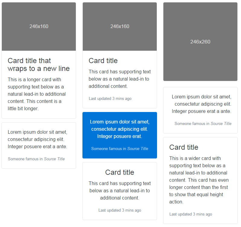 cards component bootstrap alpha