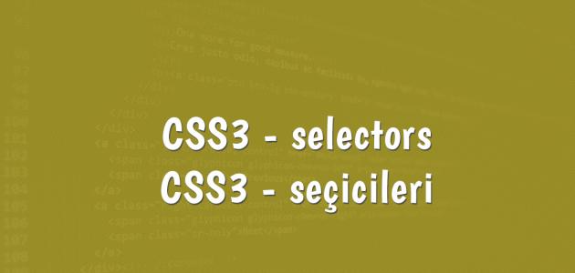 css3-selectors-seciciler