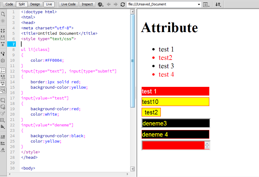 attribute-css-selectors