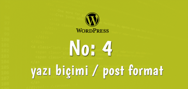post formats wordpress-4