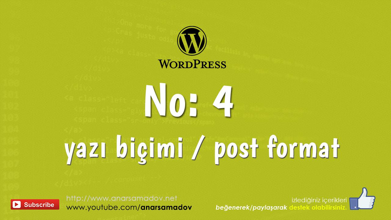 post formats wordpress-4