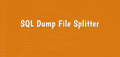 sql dump file splitter cover