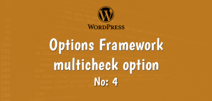 4-wordpress options framework multicheck option