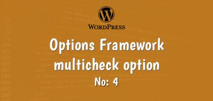 4-wordpress options framework multicheck option