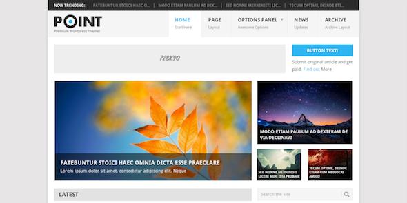 Point free wordpress theme