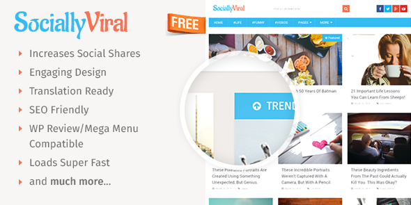 SociallyViral Free wordpress theme