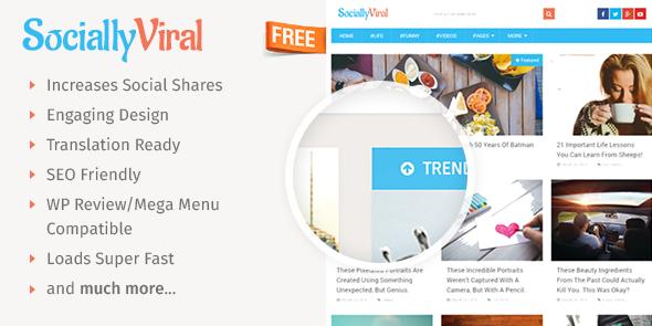 SociallyViral Free wordpress theme