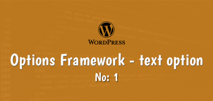 wordpress options framework text option