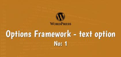 wordpress options framework text option