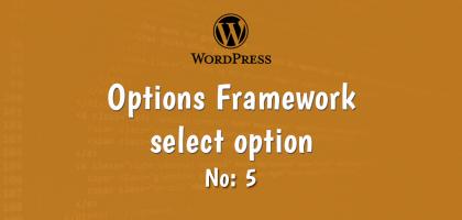 5-wordpress options framework select option