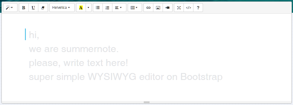 Summernote   Super Simple WYSIWYG editor