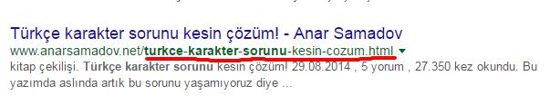 turkce karakter sorunu