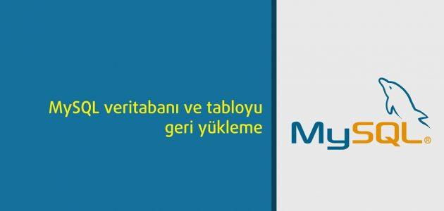 mysql_veritabani_geri_yukleme